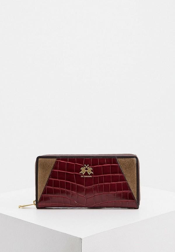 женский кошелёк la martina, бордовый