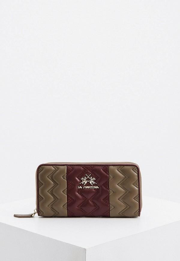 женский кошелёк la martina, коричневый
