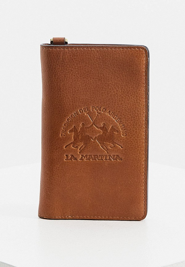 мужской кошелёк la martina, коричневый