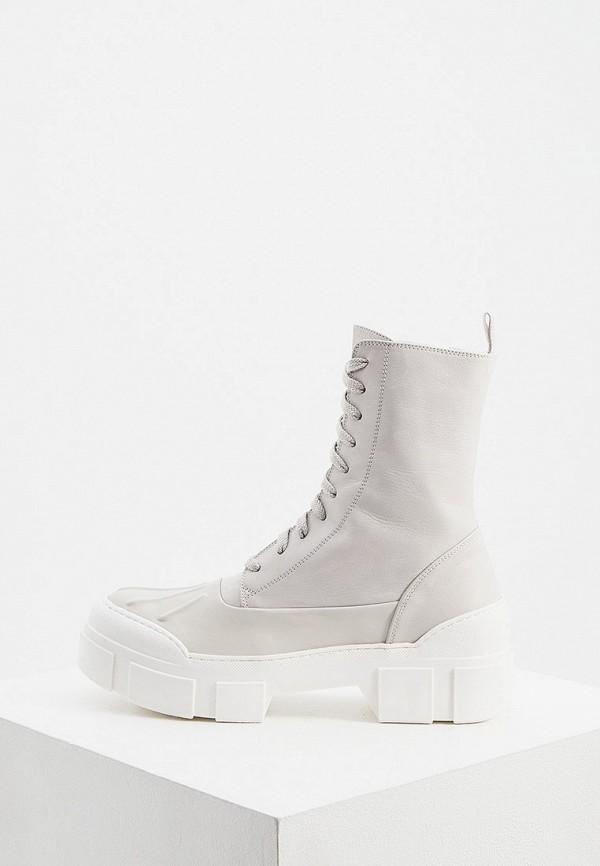 женские высокие ботинки vic matie, серые