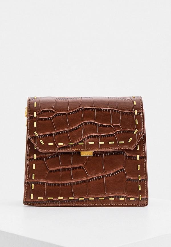 женская сумка через плечо nali, коричневая