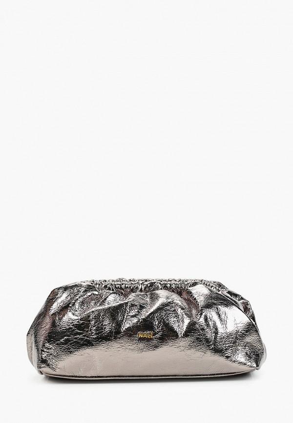 женский клатч nali, серебряный