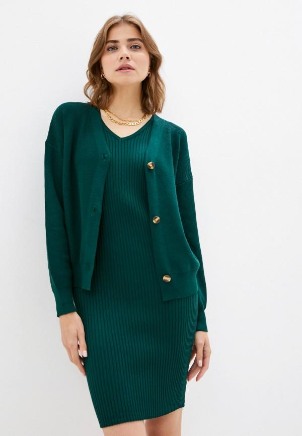 женский вязаные костюм aaquamarina, зеленый