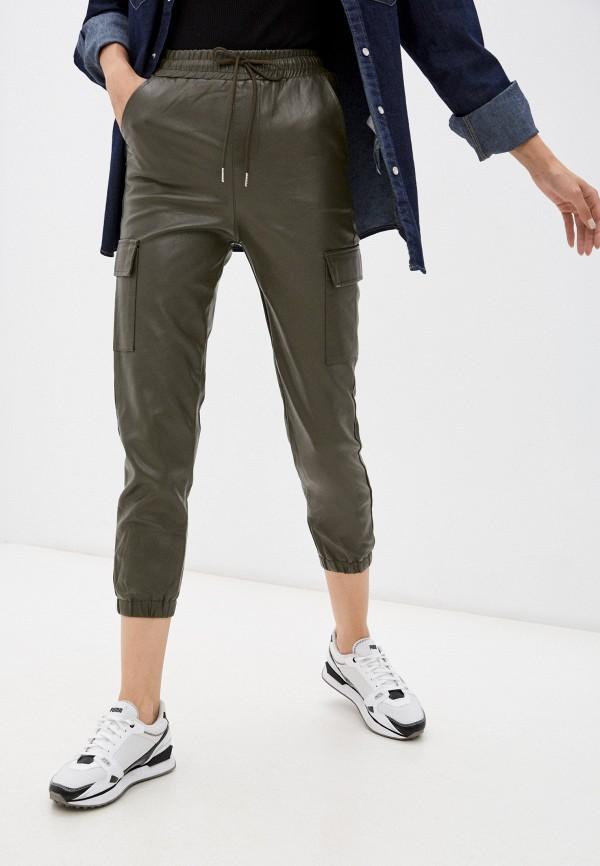 женские кожаные брюки aaquamarina, хаки