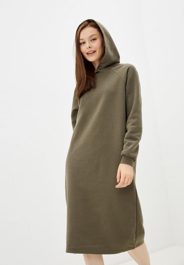 женское платье-толстовки noisy may, зеленое