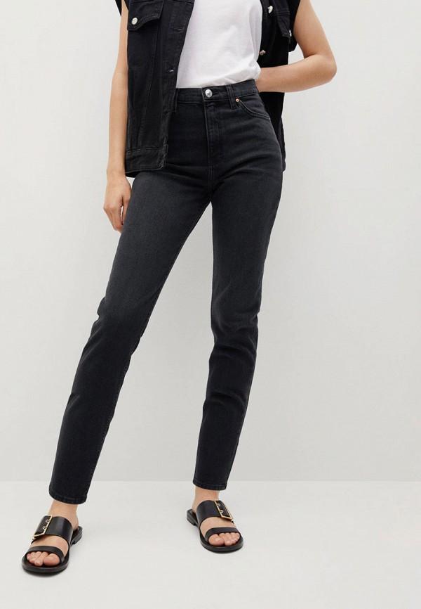 женские джинсы-мом mango, серые