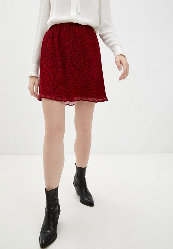 женская плиссированные юбка pennyblack, красная