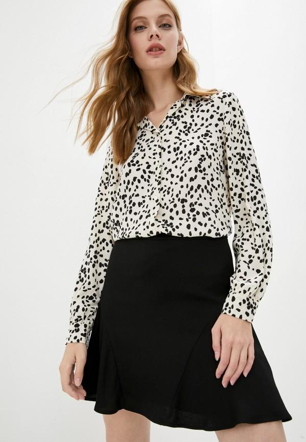 женская блузка с длинным рукавом pennyblack, бежевая