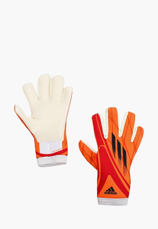 женские перчатки adidas, оранжевые