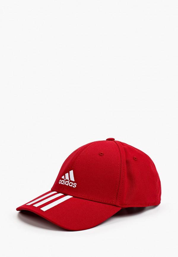 женская бейсболка adidas, красная