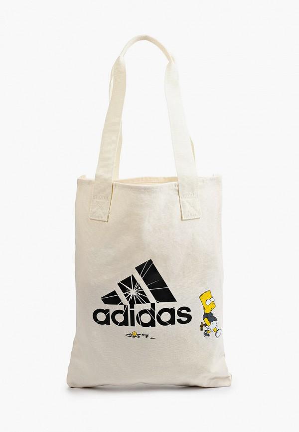 женская сумка-шоперы adidas, бежевая