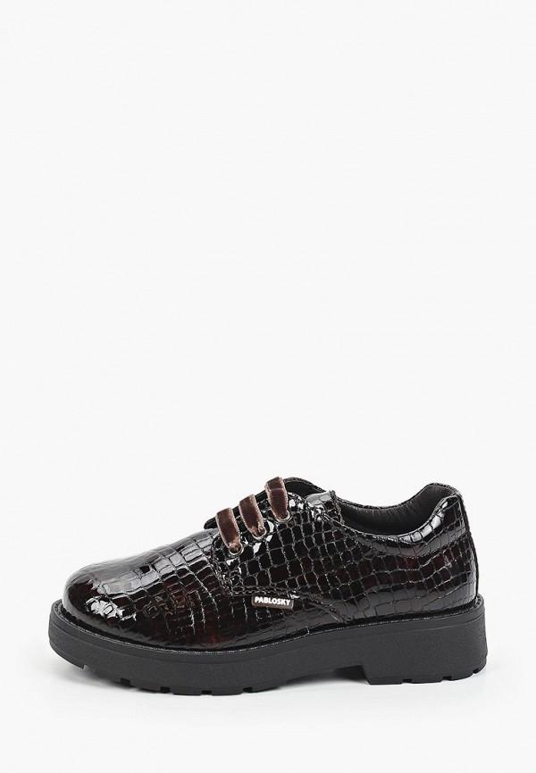 ботинки pablosky для девочки, коричневые
