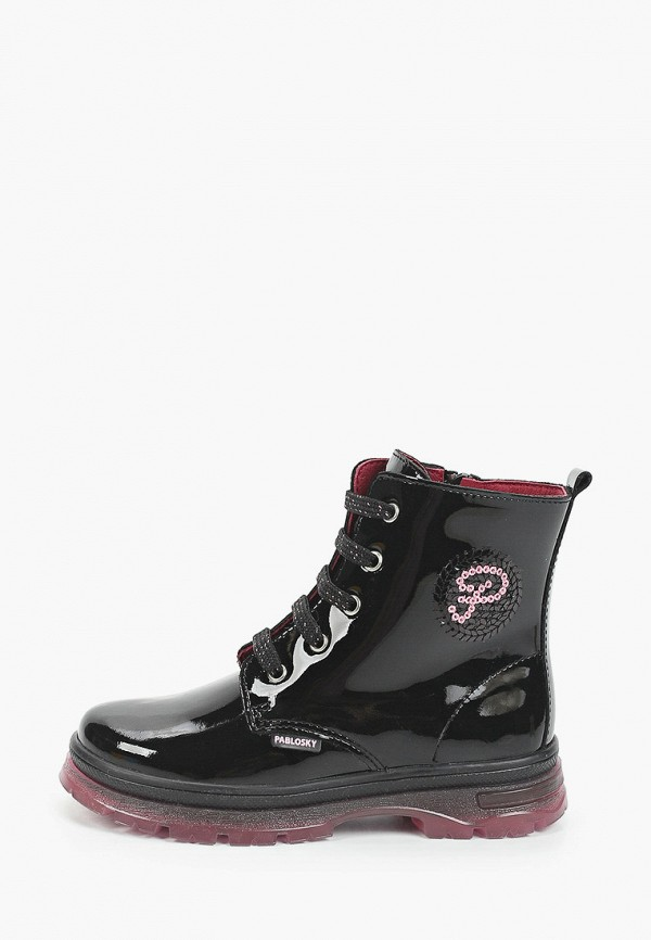 ботинки pablosky для девочки, черные