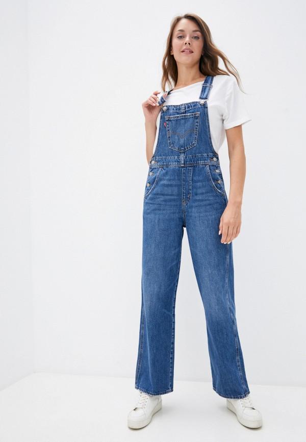 женский джинсовые комбинезон levi's®, синий