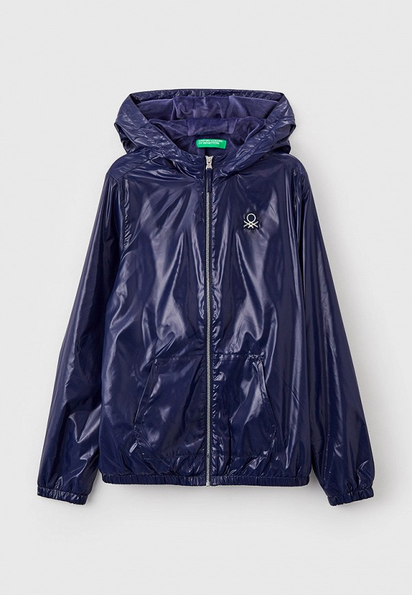 легкие куртка united colors of benetton для девочки, синяя