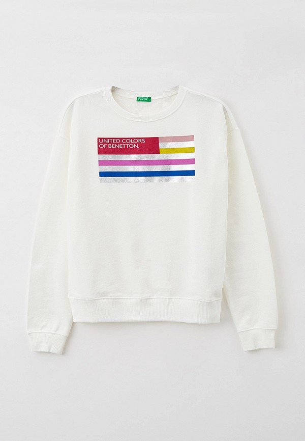 свитшот united colors of benetton для девочки, белый