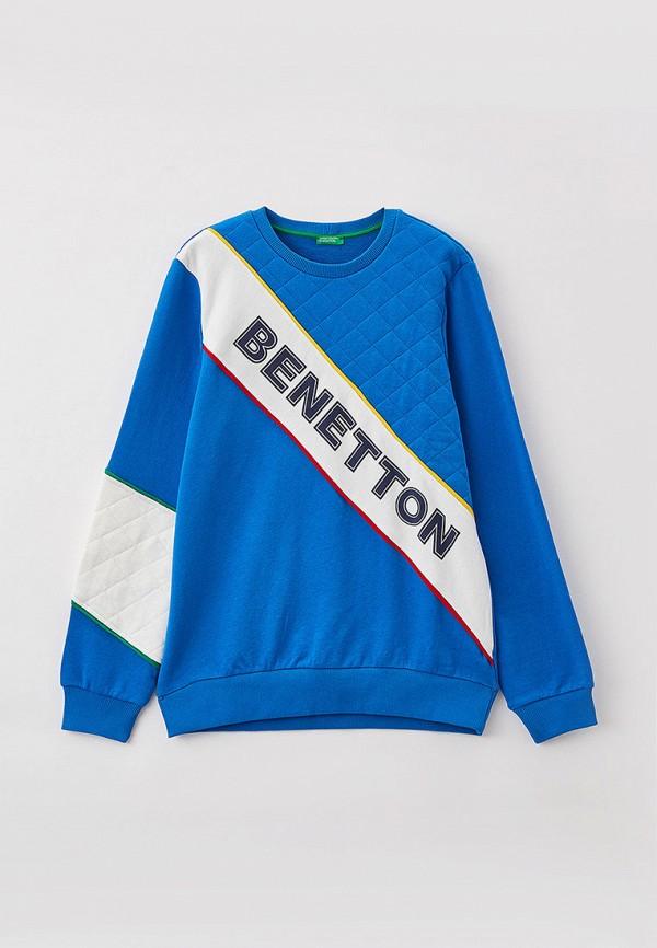 свитшот united colors of benetton для мальчика, голубой