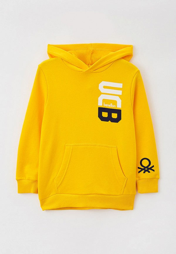 худи united colors of benetton для мальчика, желтые