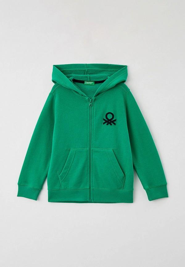толстовка united colors of benetton для мальчика, зеленая