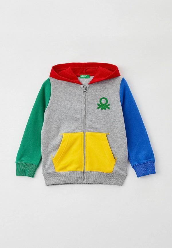 толстовка united colors of benetton для мальчика, разноцветная