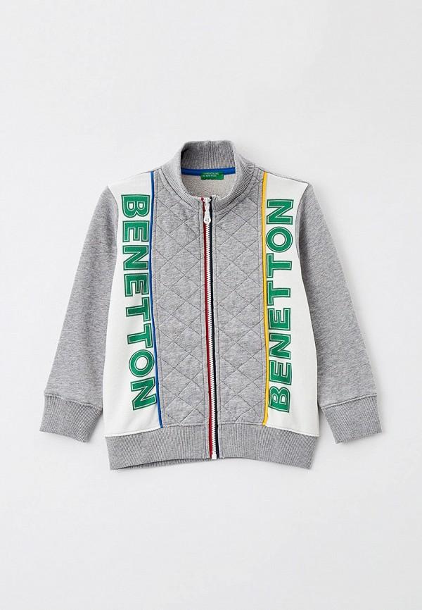 олимпийка united colors of benetton для мальчика, серая