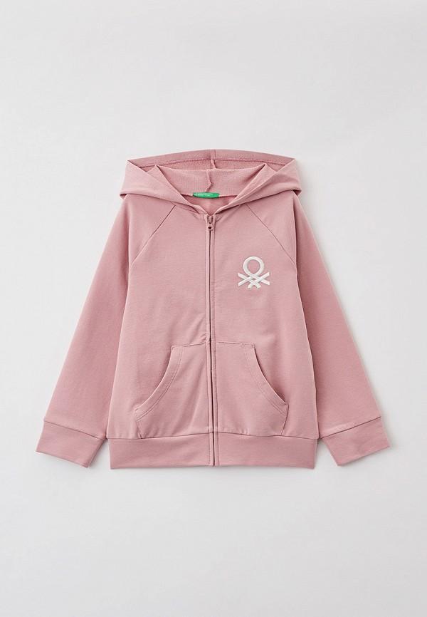 толстовка united colors of benetton для девочки, розовая