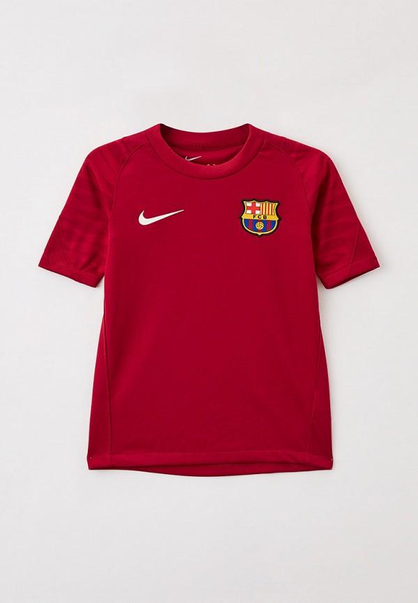 футболка с коротким рукавом nike малыши, бордовая