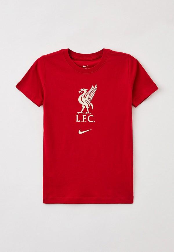 футболка с коротким рукавом nike для мальчика, красная