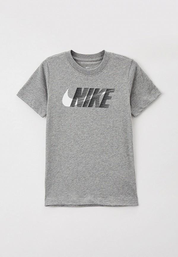 футболка с коротким рукавом nike малыши, серая