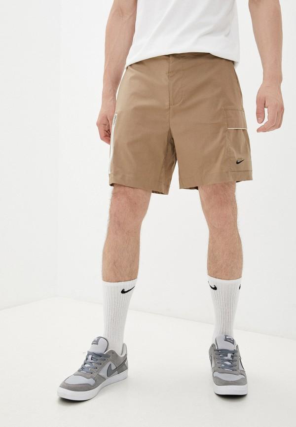 мужские повседневные шорты nike, бежевые