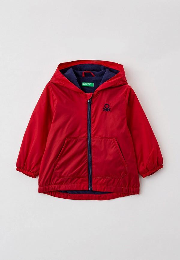 легкие куртка united colors of benetton для мальчика, красная