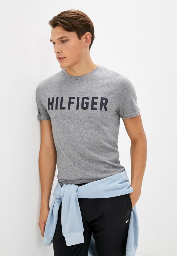 Футболка домашняя Tommy Hilfiger серого цвета