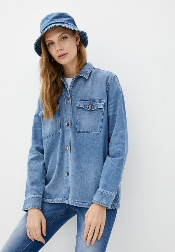 Рубашка джинсовая Tommy Hilfiger голубого цвета