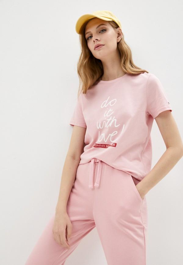 Футболка Tommy Hilfiger розового цвета