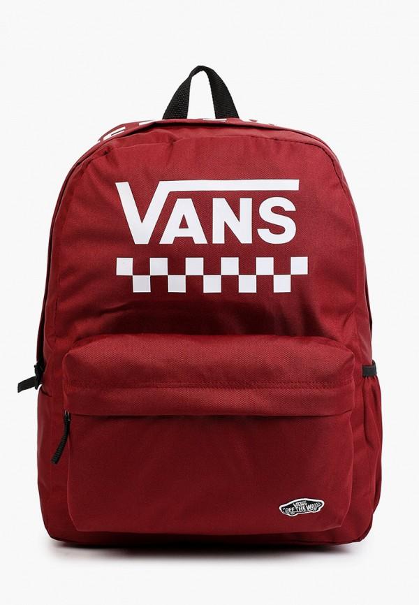 женский рюкзак vans, бордовый