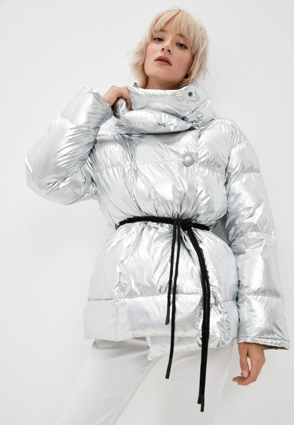 женская утепленные куртка canadian, серебряная