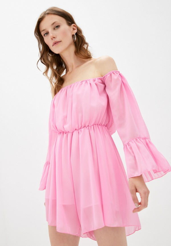 женский комбинезон с шортами pink summer, розовый