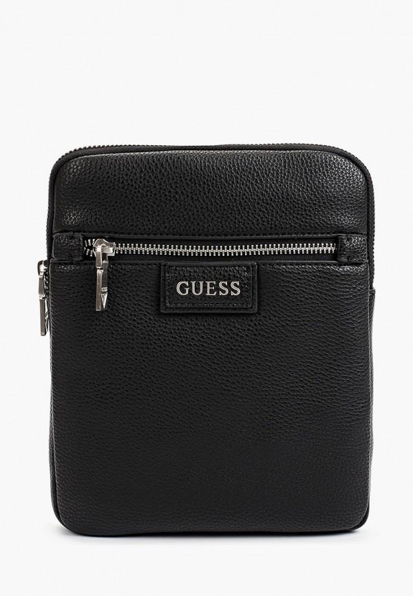 сумка через плечо guess для девочки, черная