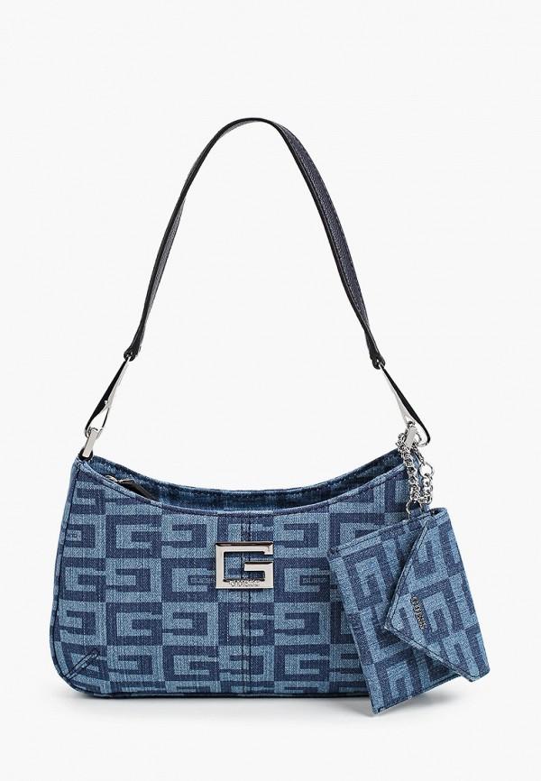 женский кошелёк с ручками guess, синий