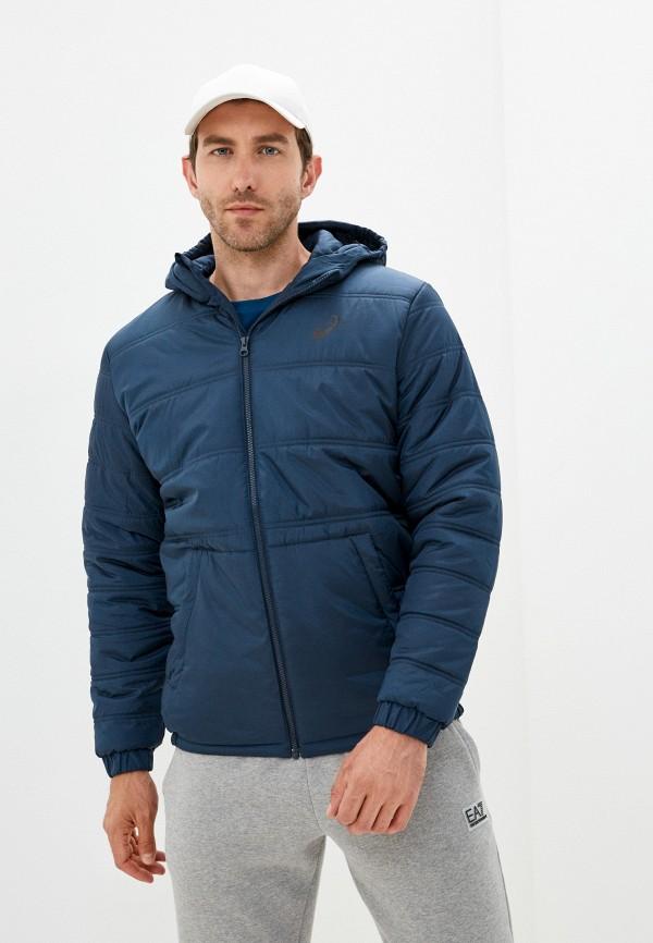 мужская спортивные куртка asics, синяя