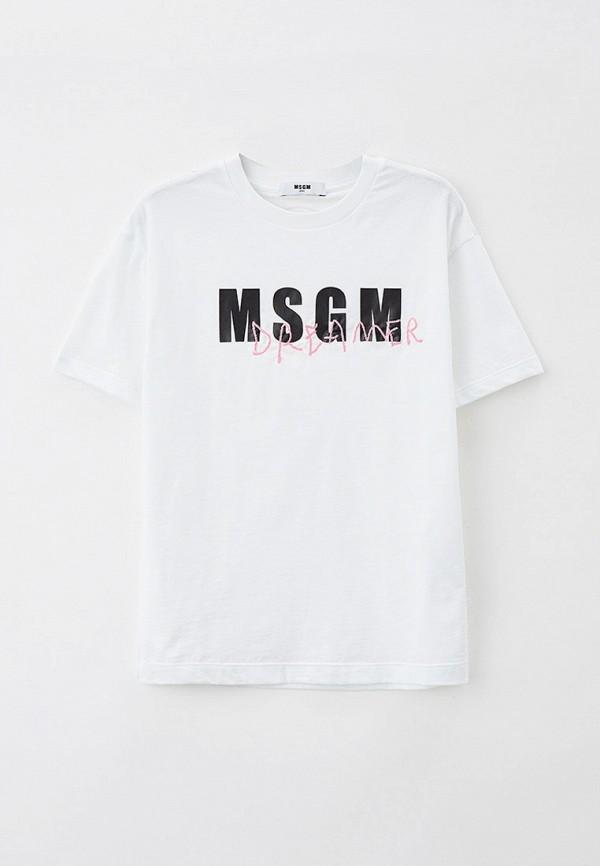 Футболка MSGM Kids белого цвета