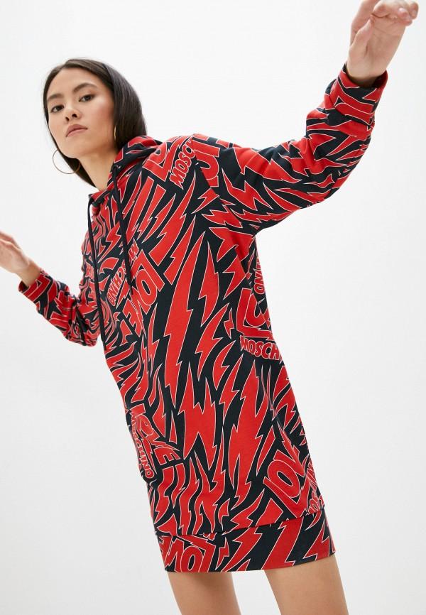 женское платье-толстовки love moschino, разноцветное