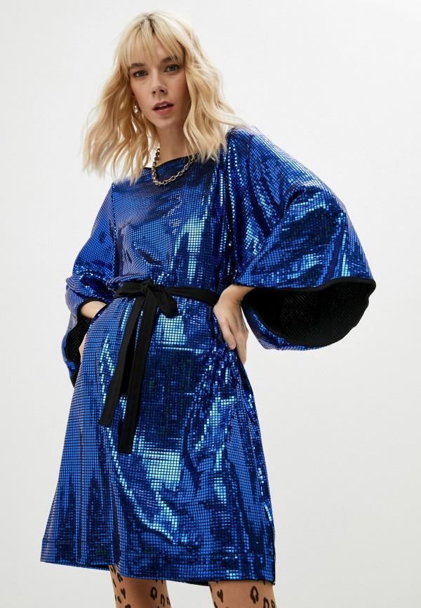женское вечерние платье love moschino, синее