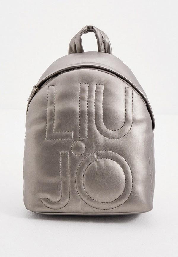 женский рюкзак liu jo, серебряный
