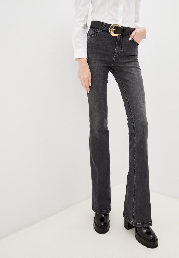 женские джинсы клеш liu jo, серые