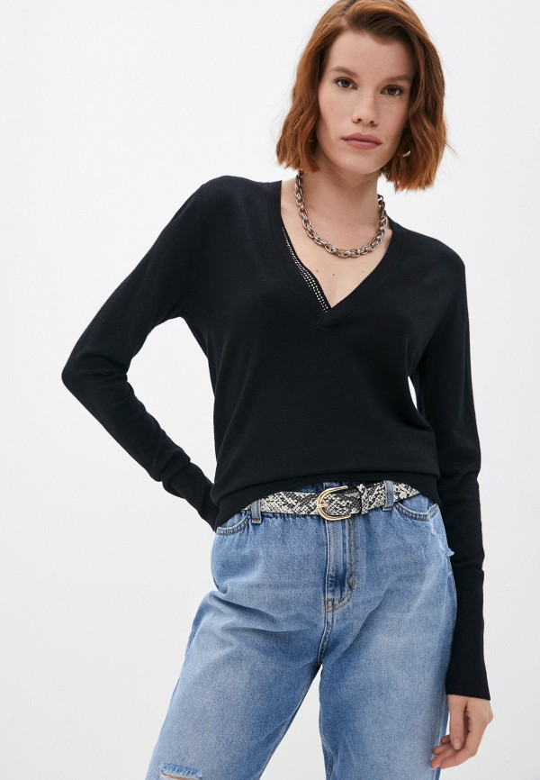 женский пуловер liu jo, черный