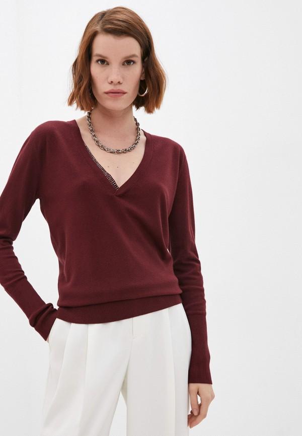 женский пуловер liu jo, бордовый