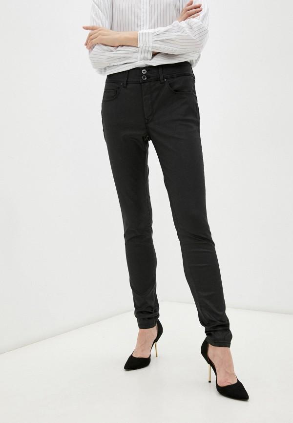 женские джинсы скинни salsa, черные