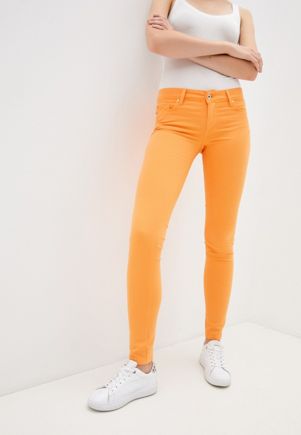 женские повседневные брюки salsa, оранжевые