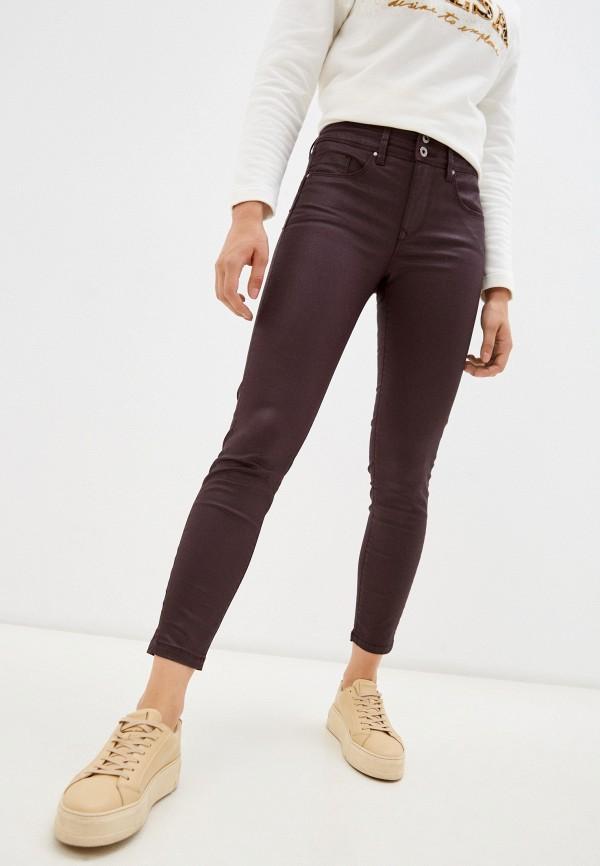 женские зауженные брюки salsa, бордовые